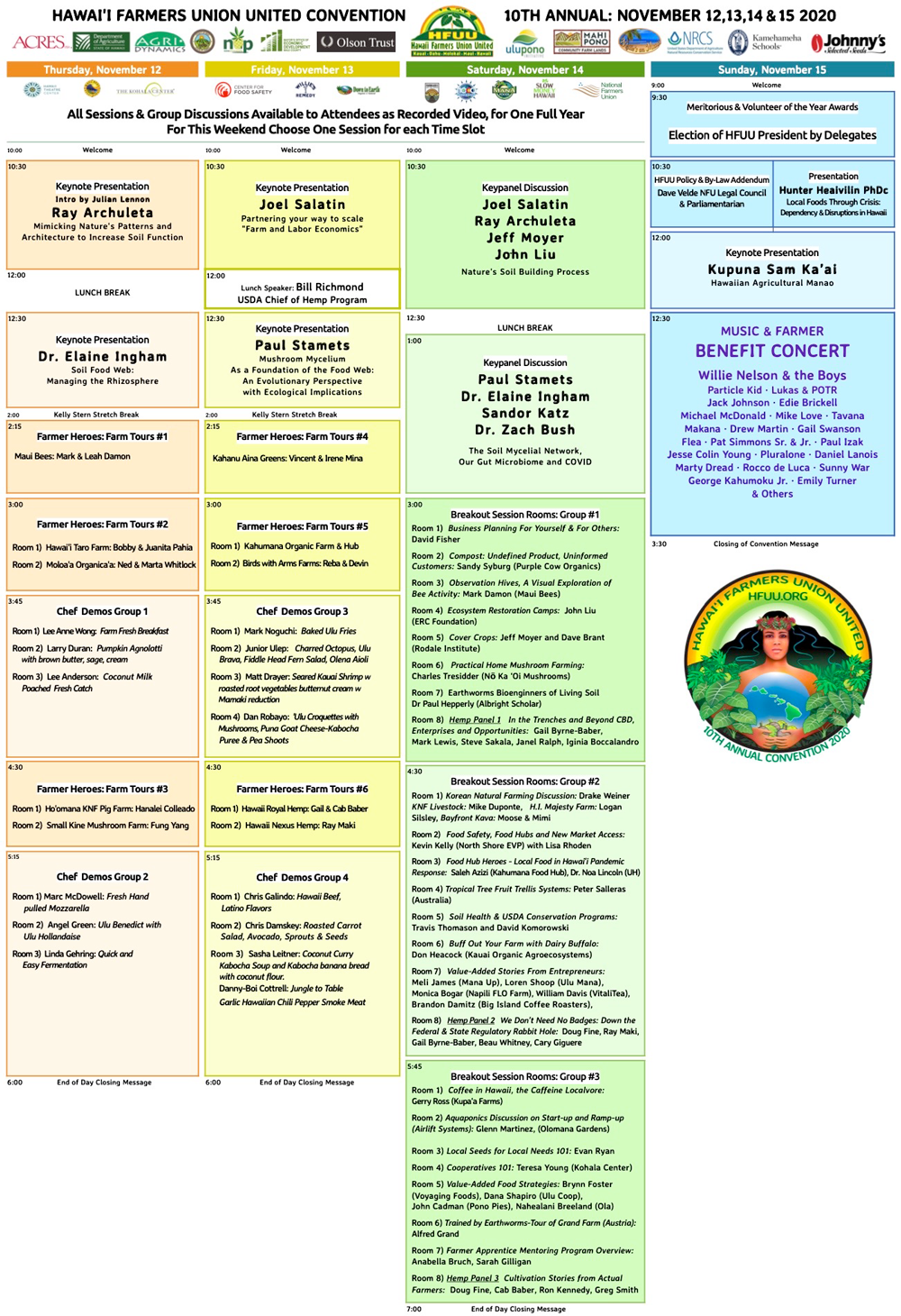 CLICK ON THE IMAGE TO VIEW - The HFUU 10th Annual Convention Schedule Downloadable PDF