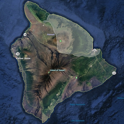 Map of the East Hawaii District