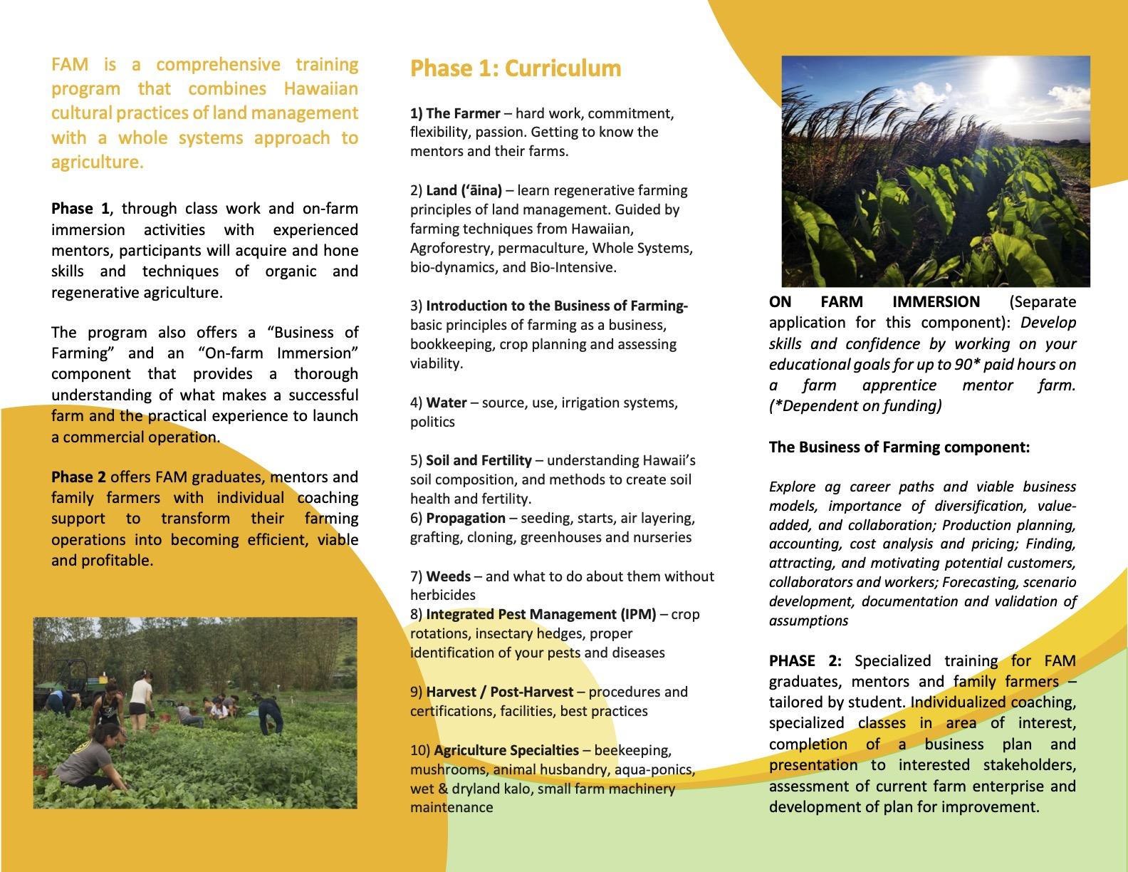FAM Brochure 2021